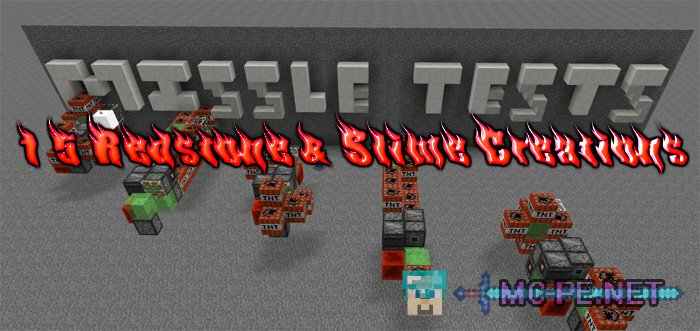 15 Redstone & Slime Creations